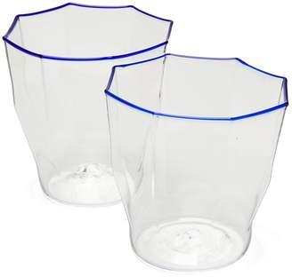 Murano CAMPBELL REY Set of 2 Rosanna stripe glasses