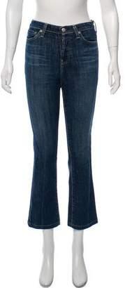 ALEXACHUNG x AG Mid-Rise Straight-Leg Jeans