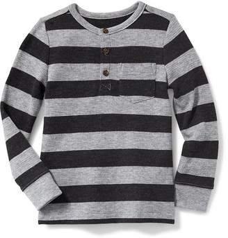 Old Navy Striped Thermal Henley for Toddler Boys