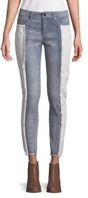 Jones New York Two-Tone Skinny Crop Jeans