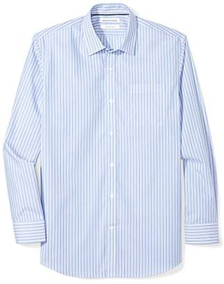 Amazon Essentials Men's Regular-Fit Wrinkle-Resistant Long-Sleeve Stripe Dress Shirt