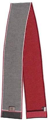 Christian Dior Wool Intarsia Knit Scarf