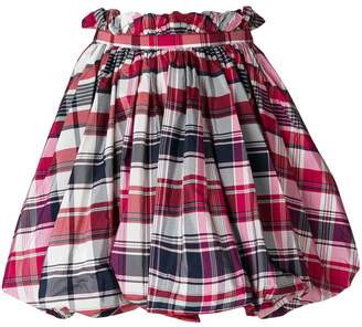 Alexander McQueen checked flared skirt