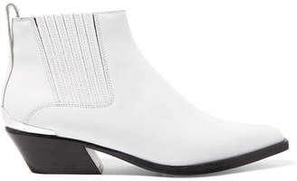 Rag & Bone Westin Metal-trimmed Leather Ankle Boots - White