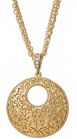 W/A Studios Half Moon Treasure Necklace