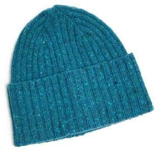 Drakes Drake's Donegal Merino Wool Hat in Turquoise