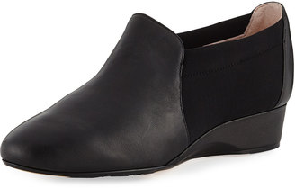Taryn Rose Feo Leather Comfort Flat, Black $139 thestylecure.com