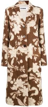 Jil Sander floral print coat