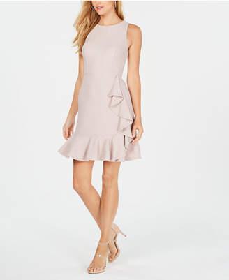 Nine West Ruffled Glitter Sheath Dress
