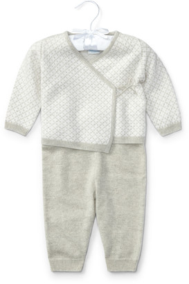 Ralph Lauren Cashmere Kimono Top & Pant Set