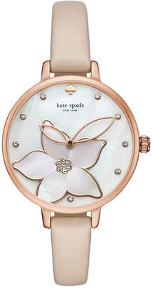 kate spade new york Women's Metro Vachetta Leather Strap Watch 34mm KSW1302 $195 thestylecure.com