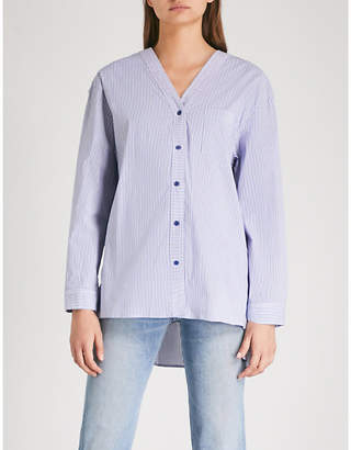 Sjyp Striped cotton-blend shirt