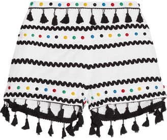 Dodo Bar Or - Embellished Embroidered Cotton-gauze Shorts - White