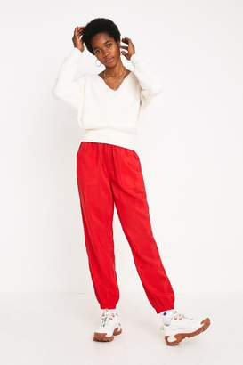 Urban Outfitters Red Tech Jogger Pant