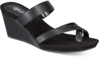 Style&Co. Style & Co Madelaa Slip-On Wedge Sandals, Created for Macy's Women's Shoes