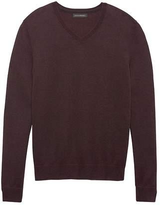 Banana Republic Silk Cotton Cashmere V-Neck Birdseye Sweater