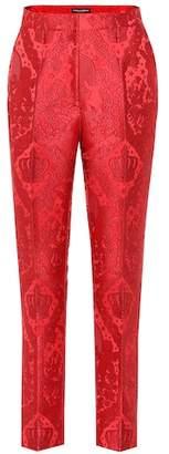 Dolce & Gabbana Cropped jacquard pants