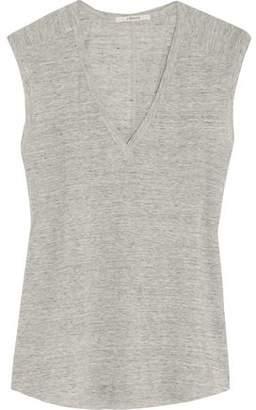 J Brand Rosemead Mélange Linen-Jersey Top