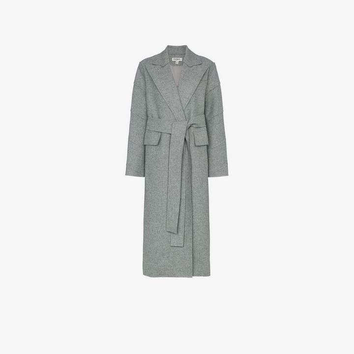 Materiel Long Coat With Belt Fastening