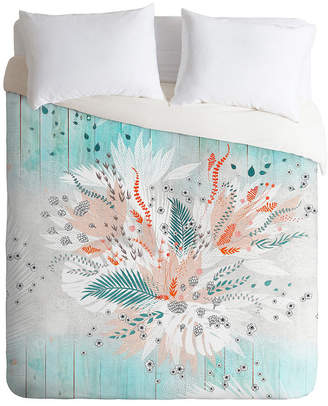 Deny Designs Iveta Abolina Tropical Teal Twin Duvet Set Bedding
