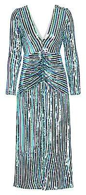Rixo Women's Emmy Stripe Sequin A-Line Dress