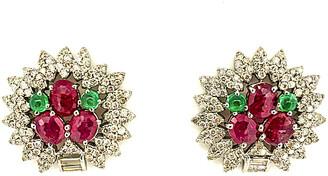 Arthur Marder Fine Jewelry Silver 5.81 Ct. Tw. Diamond & Gemstone Earrings