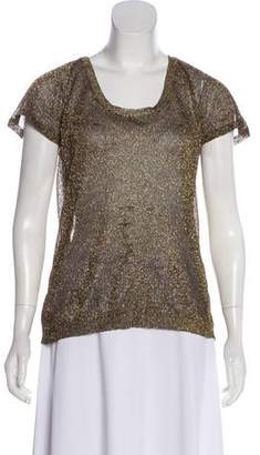 Isabel Marant Short Sleeve Metallic Top