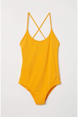 H&M Swimsuit with Lacing - Orange