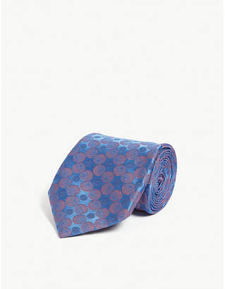 Charvet Circle print silk tie