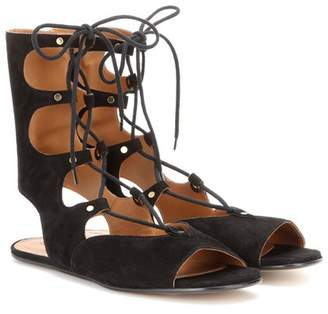Chloé Foster lace-up suede gladiator sandals