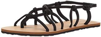 Volcom Women's Whateversclever Knotted Synthetic Leather Flat Sandal