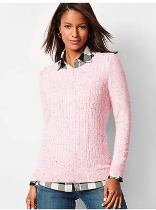 Talbots Cable Crewneck Sweater - Donegal
