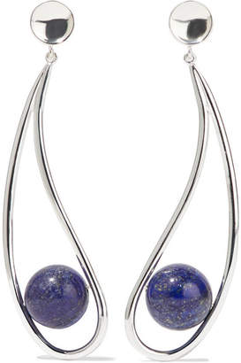 Lapis Sophie Buhai - Moon Silver Lazuli Earrings - one size