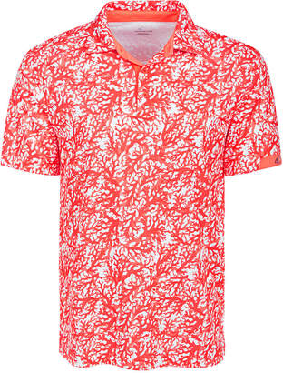 Greg Norman Attack Life by Men All Over Print Coral Polo Shirt