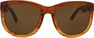 The Row Mahogany Leather Sunglasses