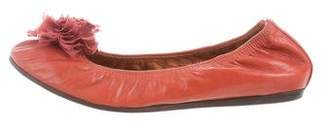 Lanvin Leather Round-Toe Flats