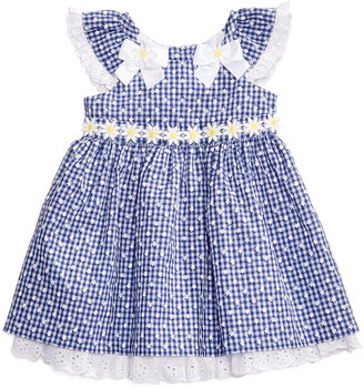Bonnie Baby Eyelet & Daisy Gingham-Print Dress, Baby Girls (0-24 months) $50 thestylecure.com