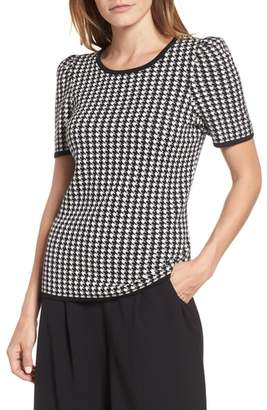 Vince Camuto Puff Shoulder Houndstooth Sweater