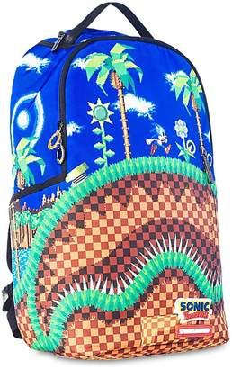 Sprayground Sonic Green Hill Nylon Canvas Backpack
