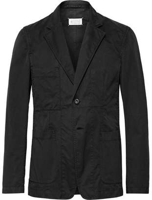 Maison Margiela Black Unstructured Cotton-Twill Suit Jacket
