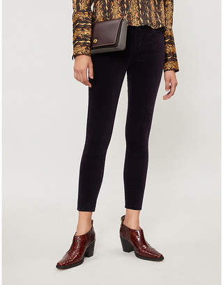 Citizens of Humanity Rocket skinny cropped high-rise velvet jeans