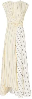 3.1 Phillip Lim Stripe Twisted Waist Maxi Dress