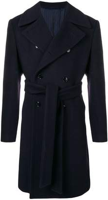 Piombo Mp Massimo belted double breasted coat