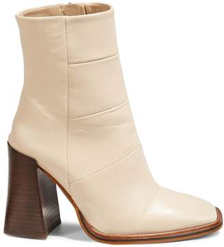 Topshop Hartley Leather Square Toe Boots