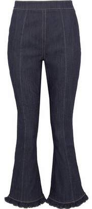 Cinq à Sept Ruffle-Trimmed High-Rise Kick-Flare Jeans
