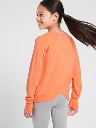 Athleta Girl Cross Your Fingers Sweatshirt