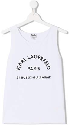 Karl Lagerfeld TEEN logo print tank top