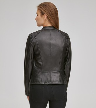 Andrew Marc GOLDIE LEATHER RACER JACKET