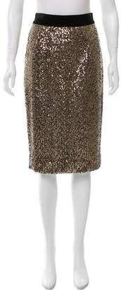 Milly Sequin Embellished Pencil Skirt w/ Tags