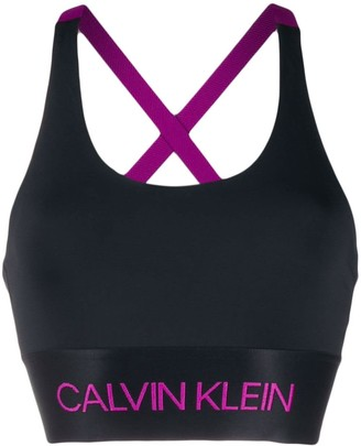 Calvin Klein stitched logo sports bra